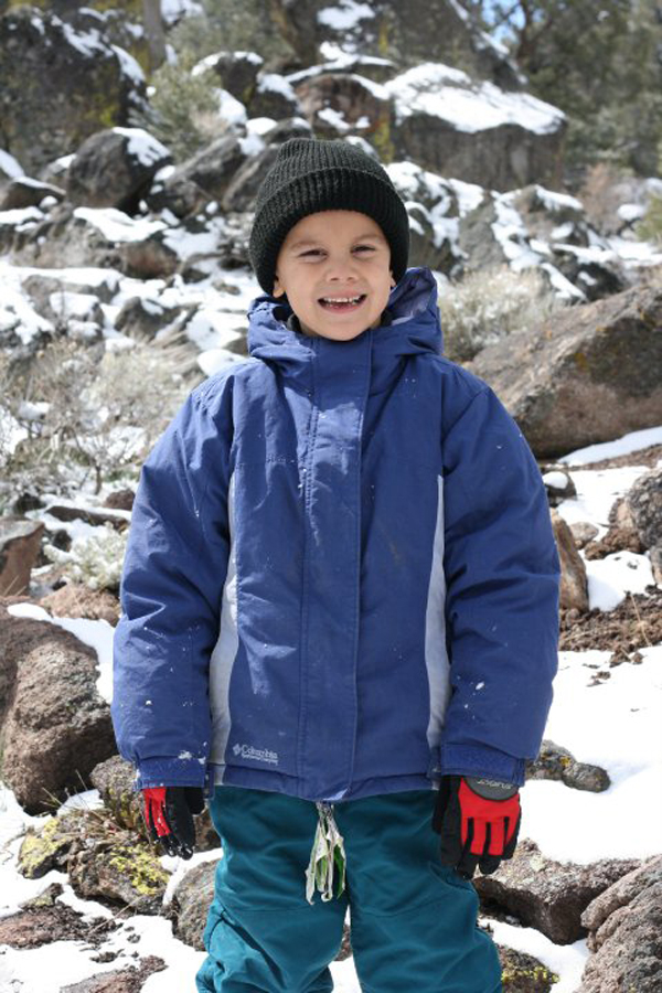 First time in the snow in Reno, Nevada - Photo Credit: Julie Bigboy / Day Trips TravelingMom