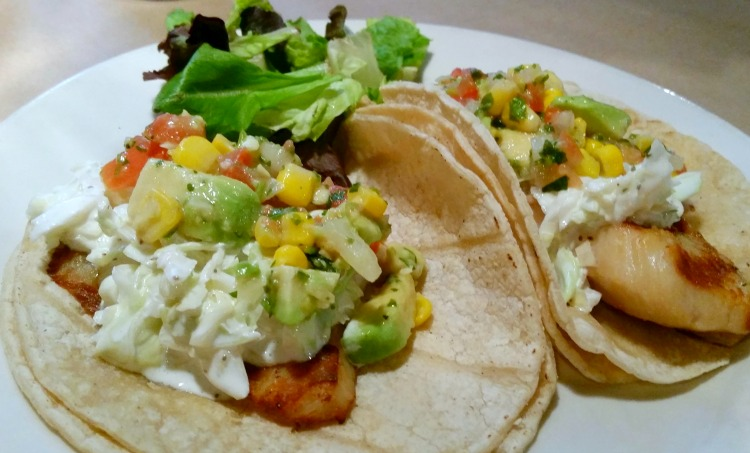Fish Tacos at TASTE. Photo by Mary Moore / Retro TravelingMom