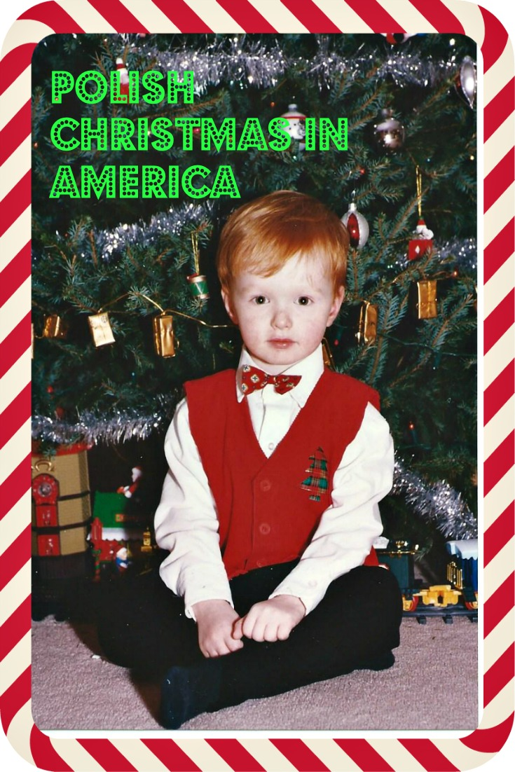 Son Daniel posing for a photo while awaiting arrival of Mikolaj on Christmas Eve - photo by Yvonne Jasinski Credit Card Traveling Mom