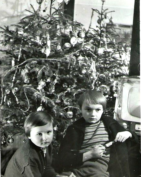 Long time ago in Poland with my sister (on the right) - photo by my father Franciszek Lorenc