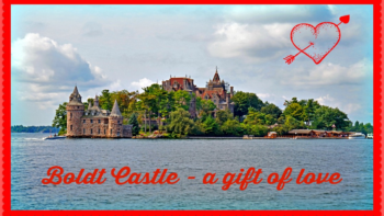 Boldt Castle in 1000 Islands as seen from the boat - photo by Yvonne Jasinski Credit Card Traveling Mom