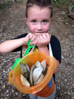 The Treasures we found at the creek! Photo Courtesy: Allison Taylor/ Research TravelingMom