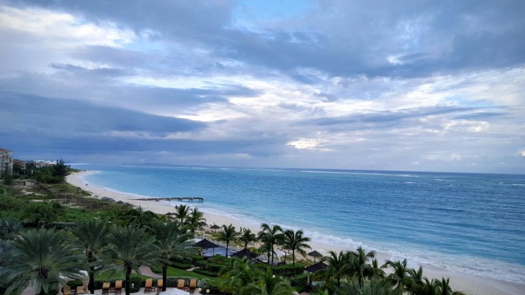 The view from the balcony at Seven Stars Resort in Turks & Caicos is truly magnificent.