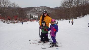 Skiing as a Family at Tuxedo Ride Ski Center, New York