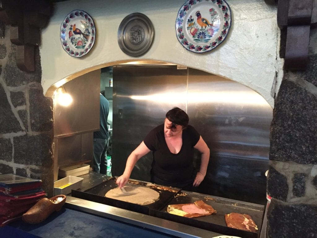 Freshly made crepes- a delicious French treat. Photo Credit: Kim Orlando