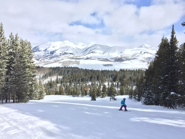 The view at Crested Butte Ski Resort