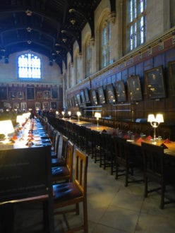 Dining Hall Christ Church is one of the best literary spots for children in England.