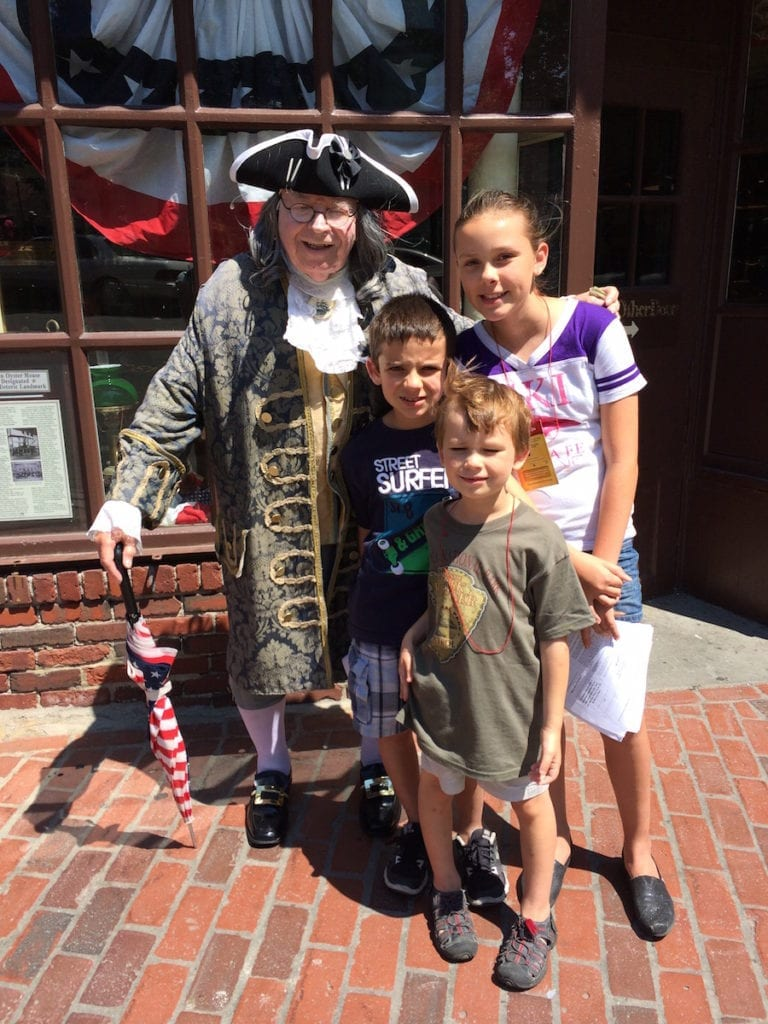 American history comes alive while walking through colonial history in Boston and earning a Junior Ranger badge. Photo by Catherine Parker, National Parks TravelingMom