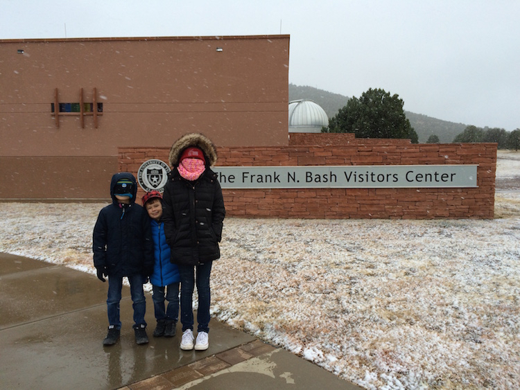 It's cold in the winter at the McDonald Observatory, located on Mount Locke, so dress in layers for the outdoor Star Parties in Texas.