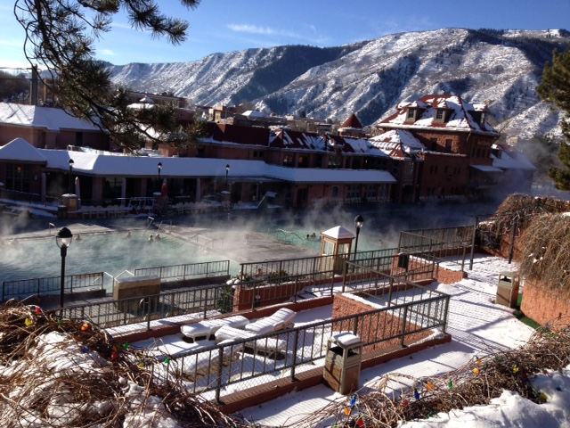 Glenwood Hot Springs Lodge view of pool