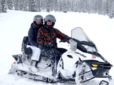 The newly engaged couple, out for a Winter Adventure! Photo Credit: Susie Kellogg, Unstoppable Traveling Mom