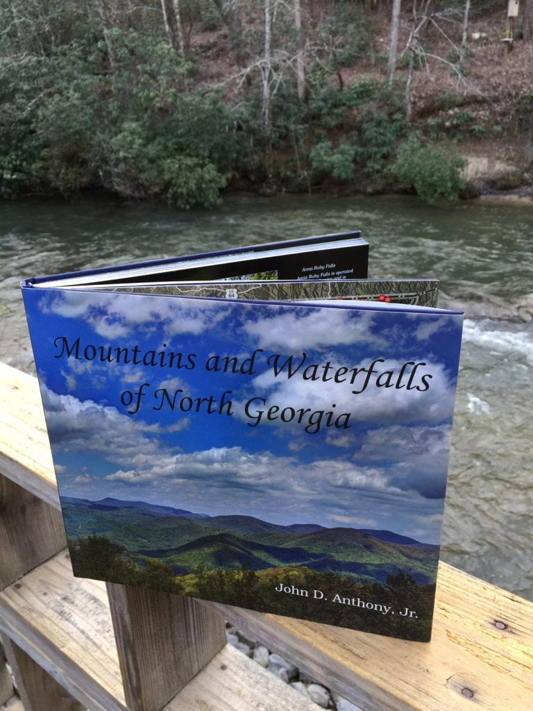 "Free waterfall hikes clearly described in Jack Anthony's stunning book: ""Mountains and Waterfalls of North Georgia"". Photo by Blended Family Traveling Mom Christine Tibbetts"