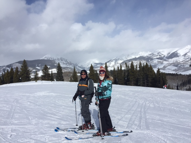 Ski date at Crested Butte