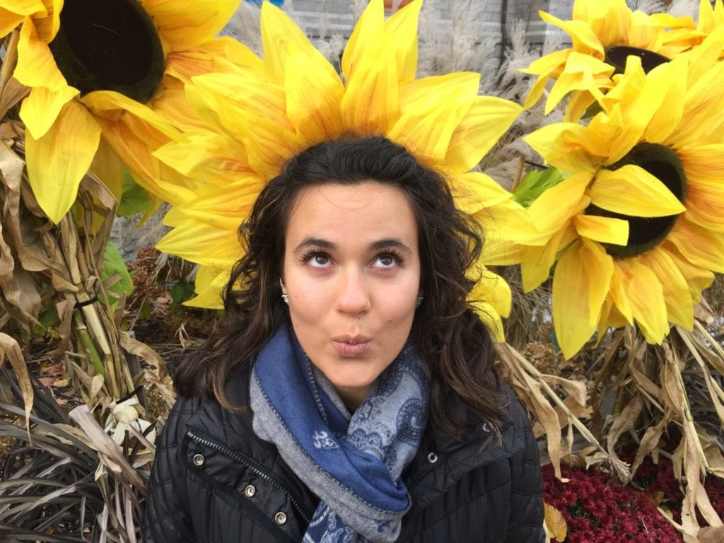 Downtown Quebec- and sunflowers the size of my daughter's head. Photo Credit: Kim Orlando