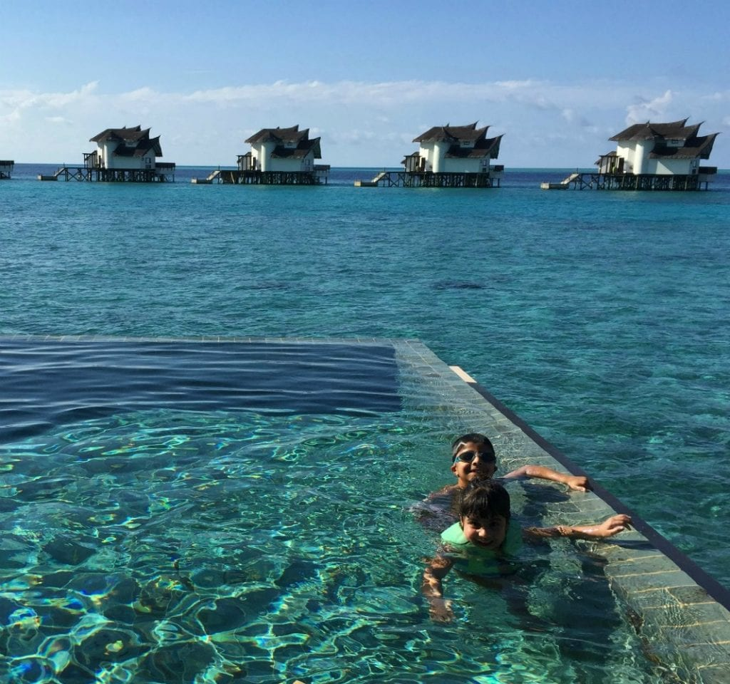 These kids know how to appreciate the luxury of the Maldives. Photo by Kaamna Bhojwani-Dhawan / International