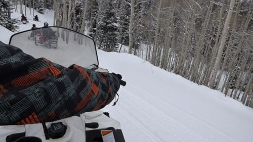 A view from the backseat of the Skidoo! Photo Credit: Sarah King
