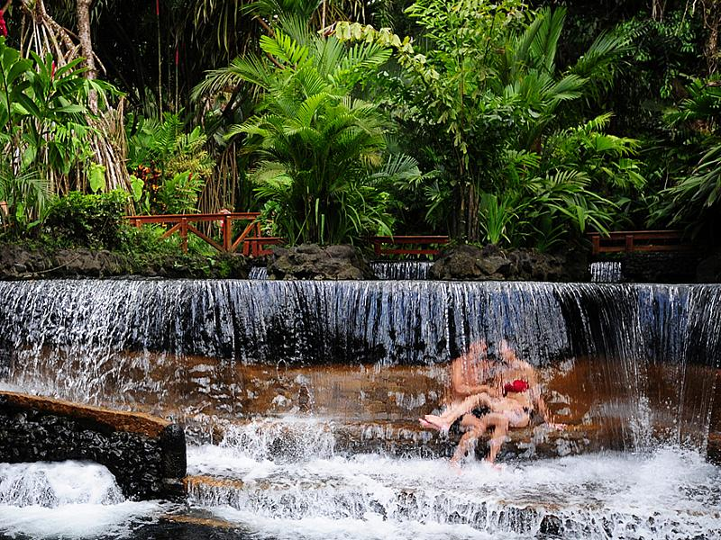 Sweet Valentine's travel packages to Costa Rica. Photo courtesy: Tabacon Grand Spa in the Arenal Volcano Region
