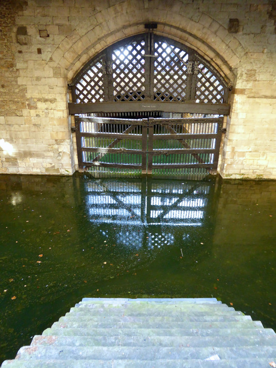 Traitor's Gate where Jane Grey was brought to the scaffold. Photo: Angela Tiffin, History Buff Traveling Mom