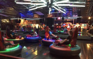 Bumper Cars at Incredible Pizza in St Louis, Missouri.  Photo Credit:  Becky Davenport