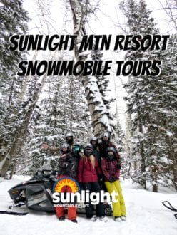 Sunlight Mountain Resort Snowmobile Tour