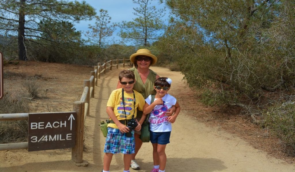 Hiking at Torrey Pines State Reserve in San Diego.