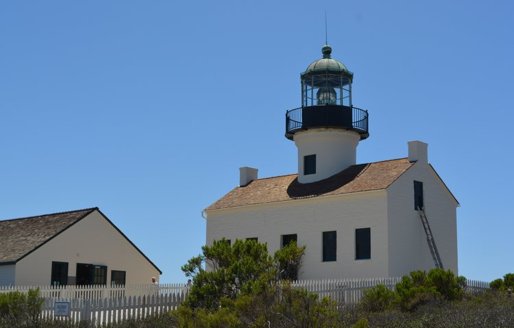 Old Point Loma Lighthouse in San Diego. Photo by Noreen Kompanik