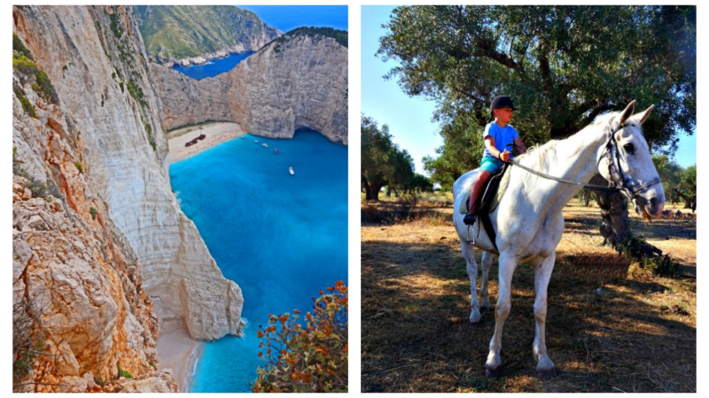 Logothetis Organic Farm located among stunning vistas of Zakynthos including famous Navagio Beach - photo by Yvonne Jasinski, Credit Card TravelingMom