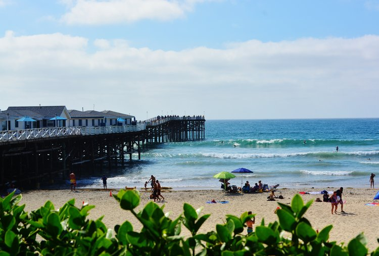 Crystal Pier, Pacific Beach, San Diego. Photo by Noreen Kompanik