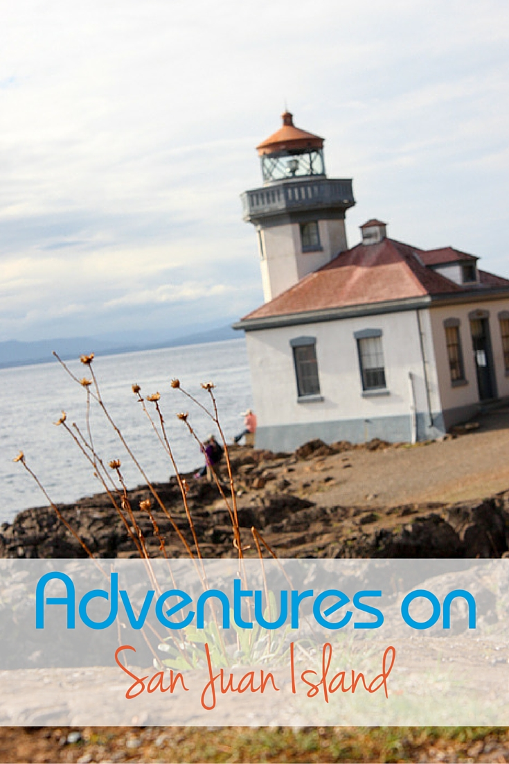San Juan Island is the perfect getaway for outdoor adventure traveling families. Lime Kiln Lighthouse on San Juan Island