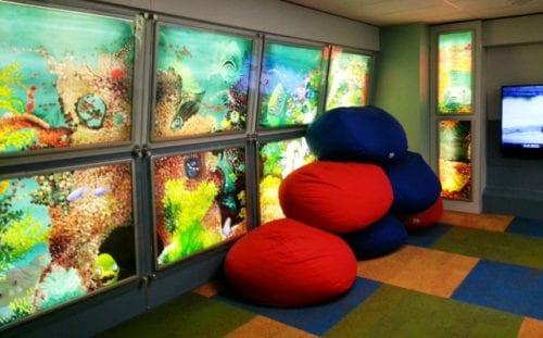 The Seawall at the Explorer's Club inspires fun and creativity. Photo credit: Gwen Kleist, Healthy TravelingMom.