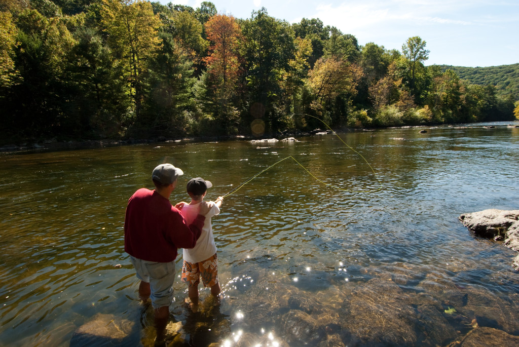 Fly fishing is one of the great things to do with in Connecticut in the springtime.