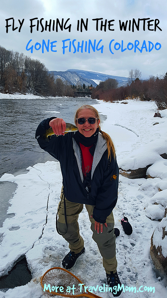 Fly fishing in the Winter in Colorado is family friendly and fun. Photo: Diana Row / Traveling Grandmom
