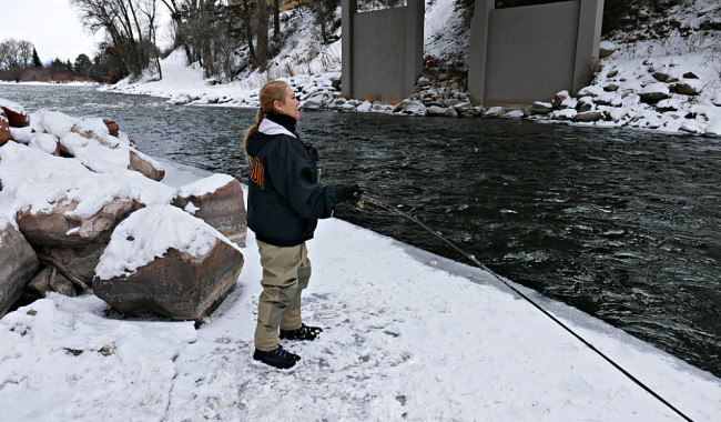 Gone Fishing Colorado, Fly Fishing in the Winter Photo: Diana Rowe / Traveling Grandmom