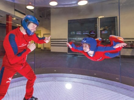 Photo courtesy of iFLY Chicago Try skydiving without having to jump out of a plane at iFLY Chicago.