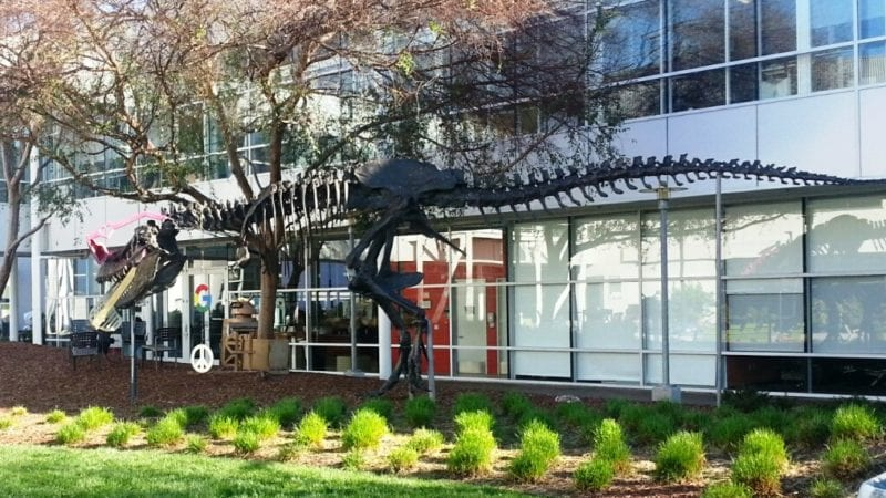 Dinosaur Sculpture at Googleplex in Silicon Valley