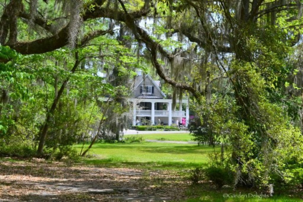 Magnolia Plantation's historic house arrived via the Ashley River.