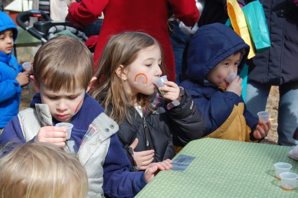 Maple Sugar Festival at Stamford Museum & Nature Center is one of the fun things to do with kids in Connecticut each spring..