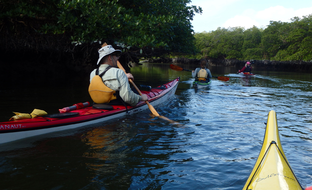 Kayaking in Tarpon Bay in Sanibel Florida is a great outdoor family adventure during spring break