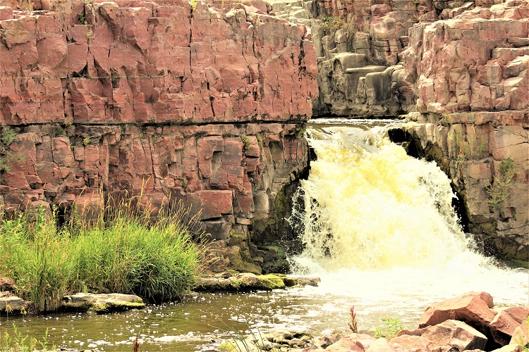 Falls Park is just one of several fun free things to do in Sioux Falls, SD.