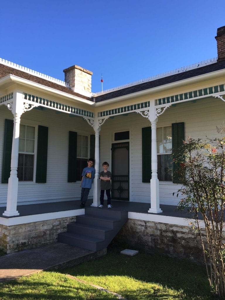 The President Johnson boyhood home in Texas, national parks, presidents day,