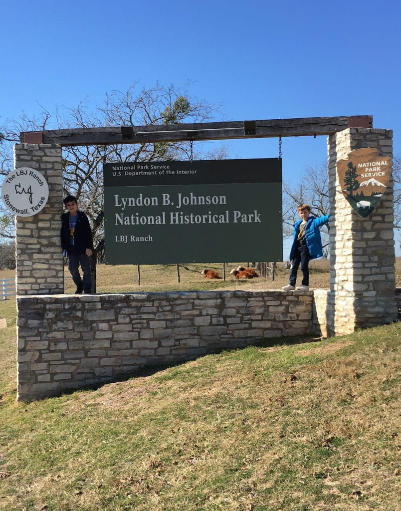 Outside the Lyndon B. Johnson National Park, Texas, Presidents Day,