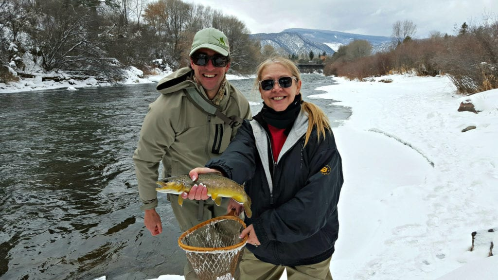 Not a skier? Try fly fishing in the winter in Colorado. Photo courtesy: Diana Rowe / Traveling Grandmom