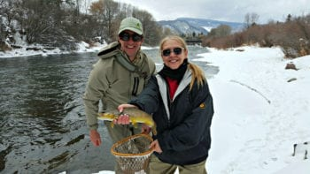 Not a skier? Try fly fishing in the winter in Colorado.