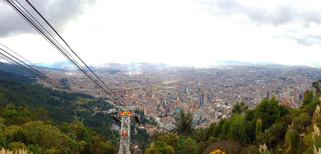 Looking down at Bogota from Monserrate Photo credit: Taty Pradilla