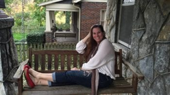Movies, TV and travel: Family Fun Traveling Mom Desiree Miller sitting on 'Deacon's' front porch swing at the home featured in the ABC TV series 'Nashville.'