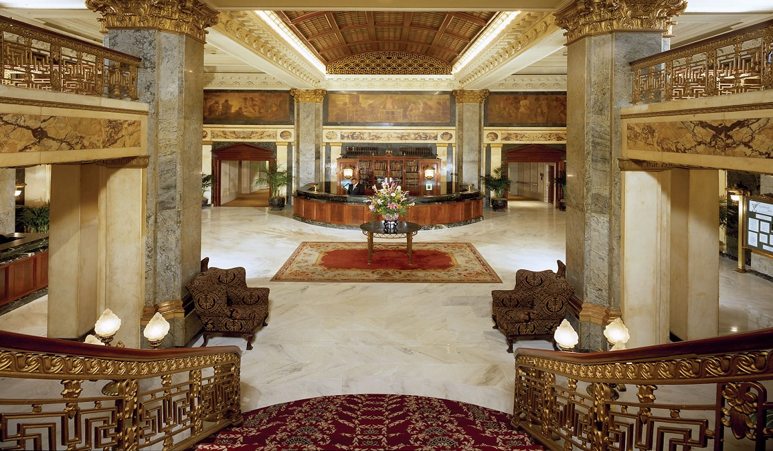 The Lobby of the Seelbach Hilton. Photo Courtesy: Seelbach Hilton