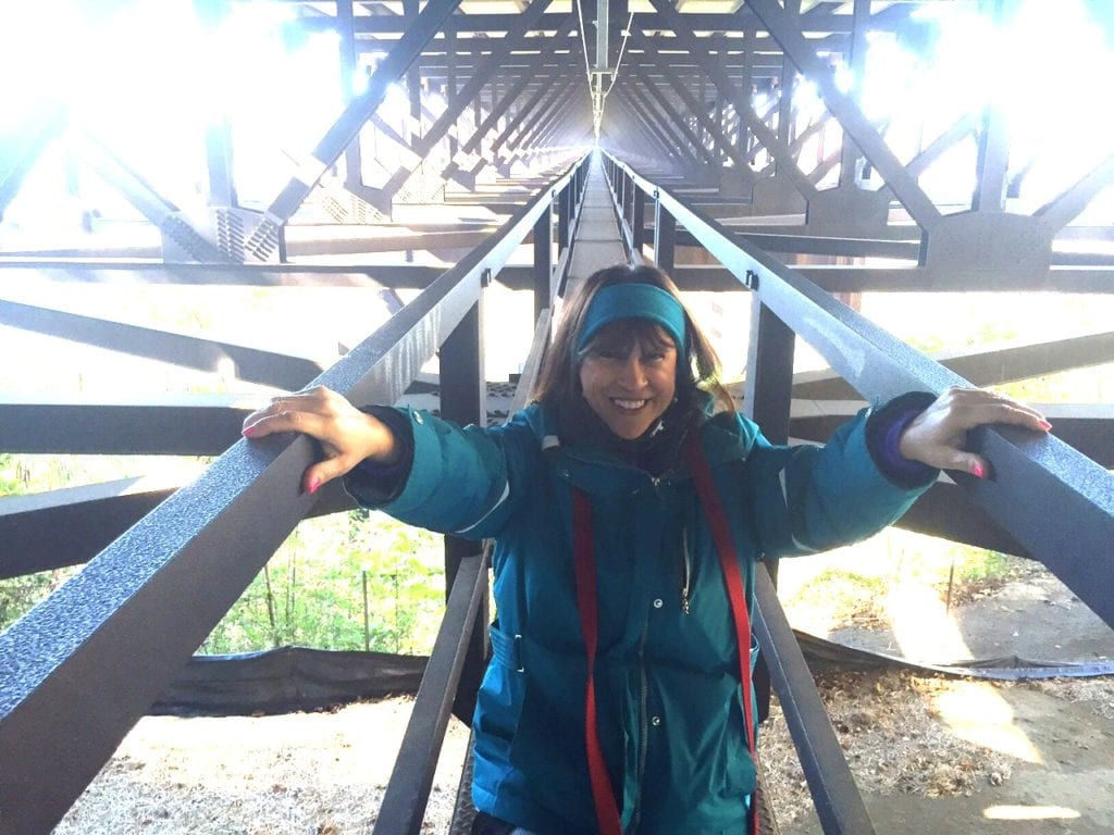 Starting the New River Gorge Bridge walk. Photo courtesy of Fran Capo/Adventure TravelingMom
