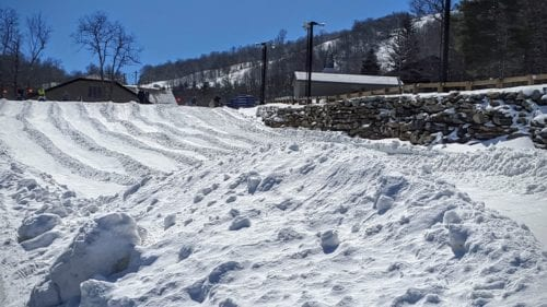 Tubing is one of the Springtime activities at Beech Mountain.