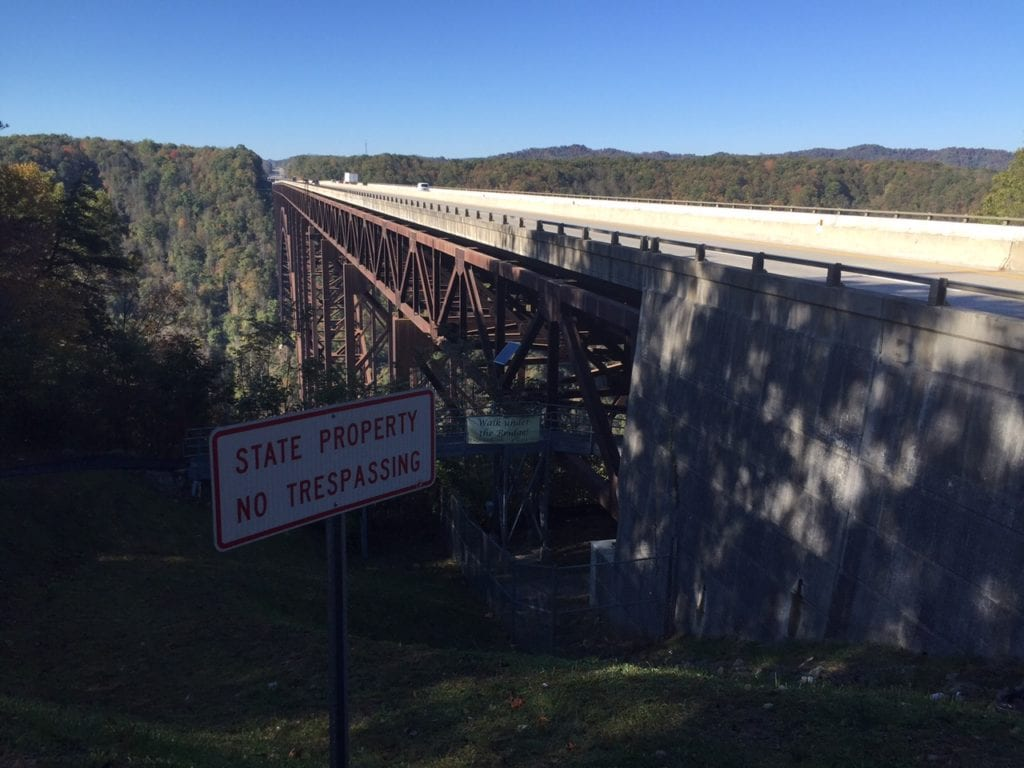Above and below view of the New River Gorge Bridge. Photo by Fran Capo/ Adventure TravelingMom