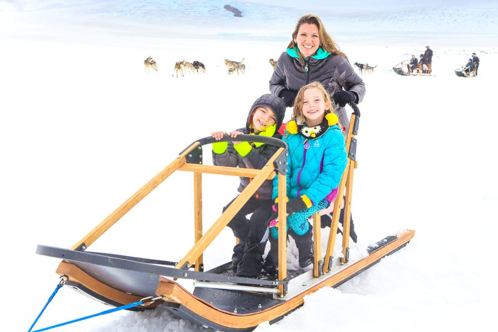 Even kids can have a turn driving the dog sled team. Photo by Britni Vigil